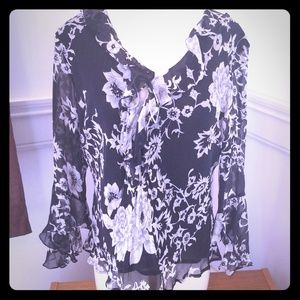 Worthington billow blouse